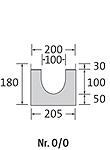 BIRCOsir – kleine Nennweiten Dimension Nominale 100 Caniveaux Elément de caniveau