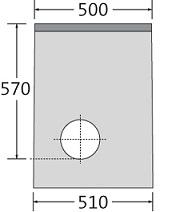 BIRCOsir – kleine Nennweiten Dimension Nominale 100 Avaloirs Avaloir en ligne