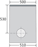 BIRCOlight Dimension Nominale 150 AS Avaloirs Avaloir en ligne
