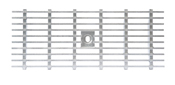 BIRCOlight Dimension Nominale 150 AS Recouvrements Gitterroste mit Flachrandeinfassung Rutschhemmklasse R11/V10