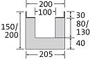 BIRCOsir – kleine Nennweiten Dimension Nominale 100 Caniveaux Caniveaux plats sans pente intérieure