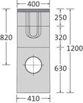 BIRCOsir Drainage ponctuel sans dimension nominale Avaloirs Avaloir 40/40 également en tant que drainage ponctuel