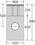 BIRCOsir Drainage ponctuel sans dimension nominale Avaloirs Avaloir 40/40 en tant que drainage ponctuel 2-pièce