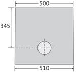 BIRCOcornières à fente Dimension Nominale 100 Avaloirs Avaloir pour insert de nettoyage